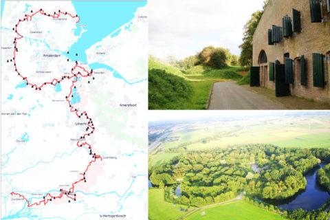 Het 'Waterliniepad', 350km langs de Nederlandse verdedigingslinies