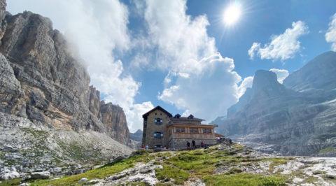 Verkenning nieuwe huttentochten 2021 in de Brenta Dolmieten