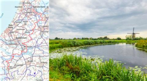 Het 245km lange Floris V-pad, van Amsterdam naar Bergen op Zoom
