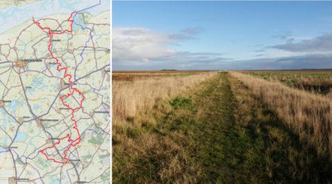 Het 147km lange Friese Woudenpad, van de Wadden naar Steenwijk