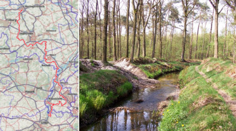 Het 267km lange Pelgrimspad, van Den Bosch tot het Belgische Visé
