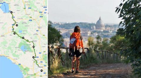 Wandelen over de Via Francigena, de laatste 100km naar Rome