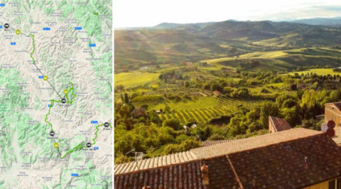 Wandelen door Toscane van Siena naar San Quirico d'Orcia