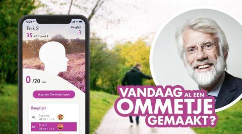 Daag je wandelvrienden uit met de 'Ommetje-app'