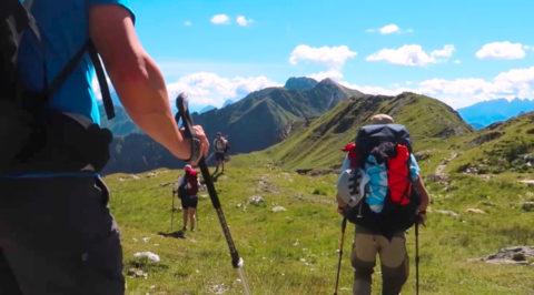 Vredesroute over 'Karnische Höhenweg' op de grens van Oostenrijk en Italië