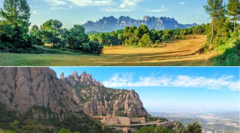 Wandelen rond Montserrat, de iconische berg met klooster op 50km van Barcelona