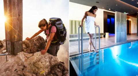 Op wandelavontuur in de Alpen met luxe Wellness-hotel als uitvalsbasis